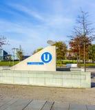 Access alla stazione Bundestag di U-Bahn a Berlino Fotografia Stock