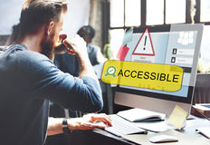 Access Allowed Entrust Password Secured Concept stock images