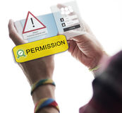 Access Allowed Entrust Password Secured Concept Royalty Free Stock Photos