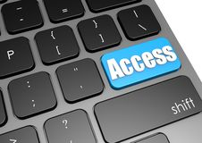 Access with black keyboard Stock Photos