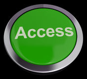 Access Button In Green Royalty Free Stock Photography