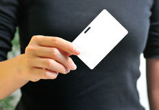 Access Card II. A black white card a gateway to anything and everything possible Stock Images