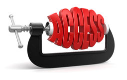 Access in clamp (clipping path included) Stock Image