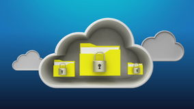 Access Cloud Security service animation stock illustration