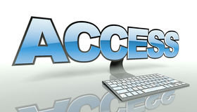 Access concept with computer and network Royalty Free Stock Photography
