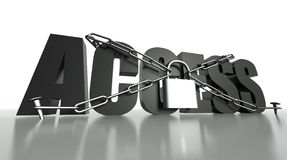 Access concept, safety padlock and chain Royalty Free Stock Photo