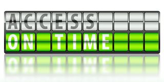 Access concept, on time Stock Photo