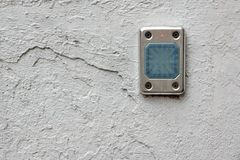 Access Control Card Reader On The Wall. Close-up royalty free stock images