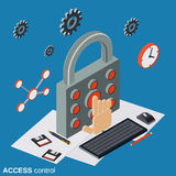 Access control, computer security vector concept Stock Images