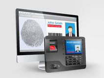 Access control - fingerprint scanner 2. Access control system, fingerprint scanner and Mifare proximity reader Royalty Free Stock Photography