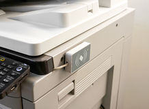 Access control for scanning key card to access Photocopier.  royalty free stock image