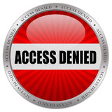 Access denied. Icon isolated in white background Royalty Free Stock Image