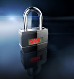 Access denied. Padlock, security concept Royalty Free Stock Photos