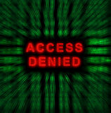Access denied. Word Access denied on digital background Royalty Free Stock Photos