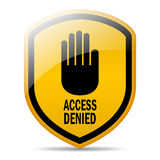 Access denied. Vector sign over white Royalty Free Stock Photo