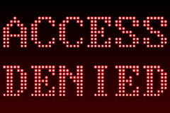 Access Denied. Vector illustration of 'access denied' words Royalty Free Stock Photos