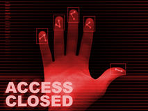 Access denied background Stock Photos