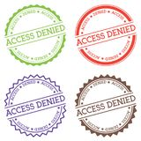 Access denied badge isolated on white background. Royalty Free Stock Photos