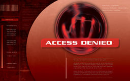 Access Denied Computer screen stock image