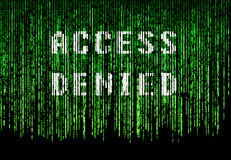 Access denied Stock Image