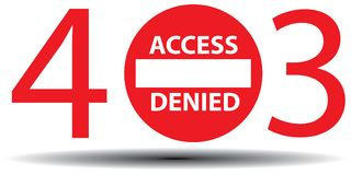 Access denied Stock Photos