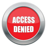 Access Denied Icon Stock Image