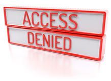 Access Denied - Isolated 3D Render Stock Image