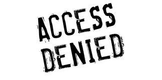 Access Denied rubber stamp Royalty Free Stock Images