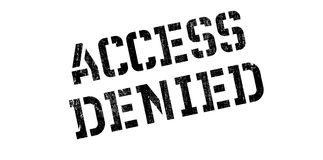 Access Denied rubber stamp Stock Photography