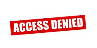 Access denied. Rubber stamp with text access denied inside,  illustration Royalty Free Stock Photos