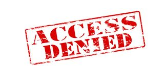 Access denied. Rubber stamp with text access denied inside,  illustration Stock Photography