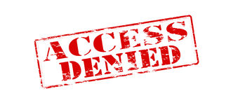 Access denied. Rubber stamp with text access denied inside,  illustration Royalty Free Stock Photo