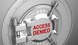 Access denied, safe door of the bank. 3D concept Royalty Free Stock Photography