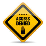 Access denied sign. On white background Stock Image
