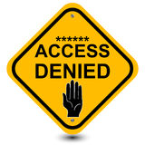 Access denied sign Stock Photos