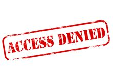 Access denied. Stamp with text access denied inside,  illustration Stock Photography