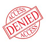Access denied Royalty Free Stock Photos