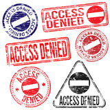 Access Denied Stamps Royalty Free Stock Photos