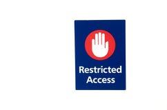 access det restricted tecknet Arkivbilder