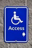 access disabletecknet Arkivbild