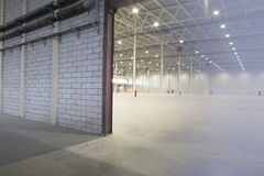 Access Door To Empty Warehouse Stock Photo