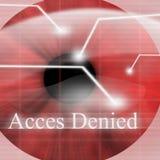 Access förnekade vektor illustrationer