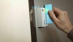 Access fissato, passaggio del membro Fotografie Stock