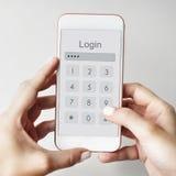 Access fixé par identifiez-vous vérifient le concept de mot de passe d'identité image libre de droits