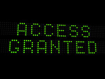 Access granted. Illustartion of words access granted Stock Photography