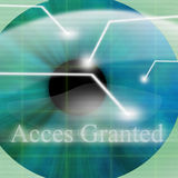 Access granted. After eye scan Royalty Free Stock Image