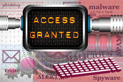 Access granted Royalty Free Stock Photos