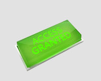 Access granted button Royalty Free Stock Photo