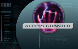 Access Granted Computer screen vector illustration