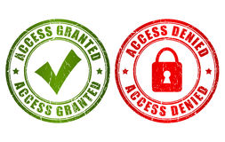 Access granted denied stamp. Access granted and denied stamps set Stock Photo